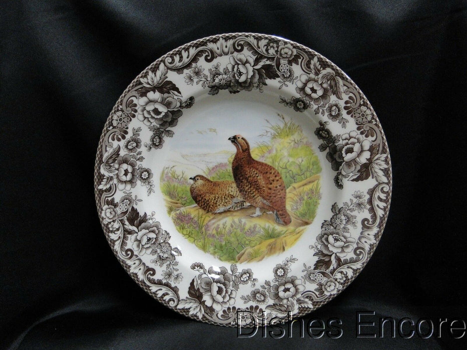 "Spode Woodland Red Grouse Game Bird, England: NEW Dinner Plate, 10 3/4"", Box"
