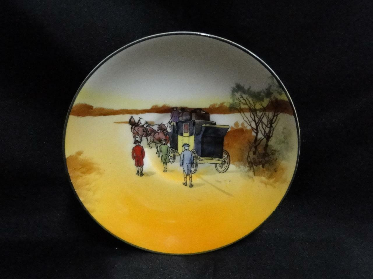 "Royal Doulton Coaching Days, Coach w/ 3 Men Walking: 5 1/2"" Saucer (s) Only, 10"