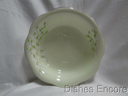 "Royal Albert Laurentian Snowdrop, Pale Green, Flowers: Serving Bowl 9 3/8"" As Is"