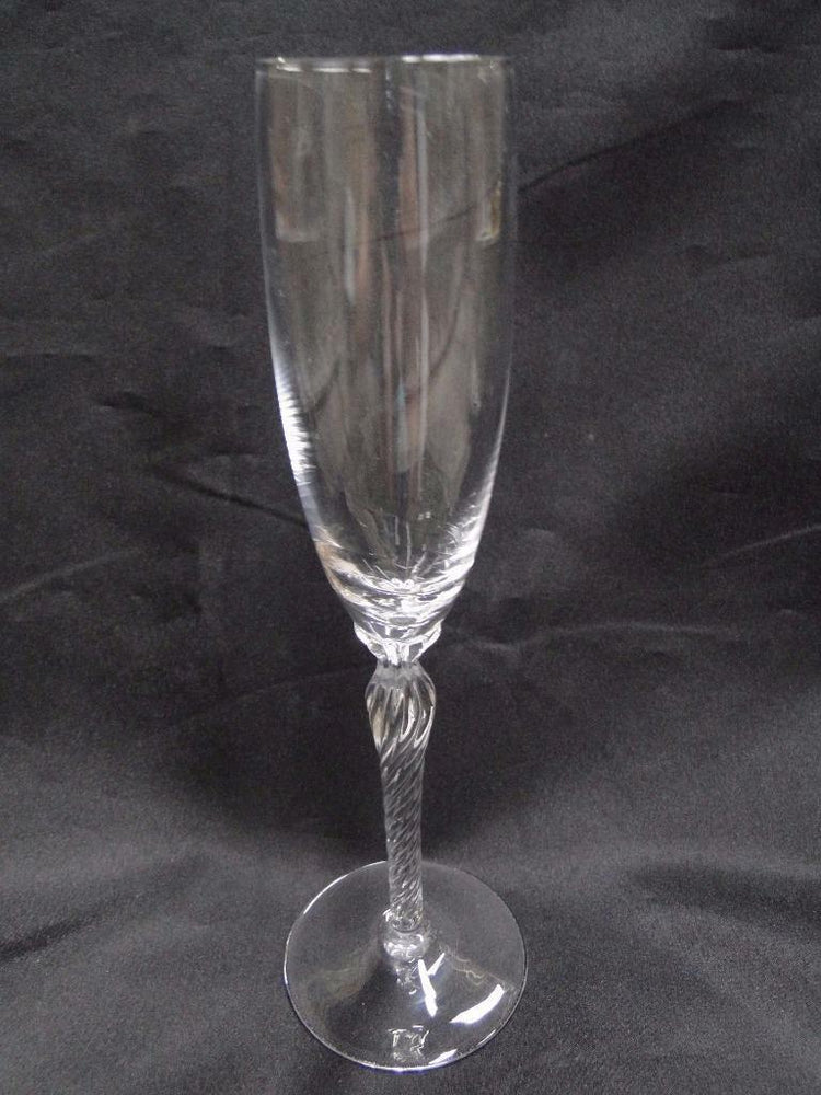 "Lenox Aria Crystal, Twisted Stem: Champagne Flute 9 1/4"" AS IS"