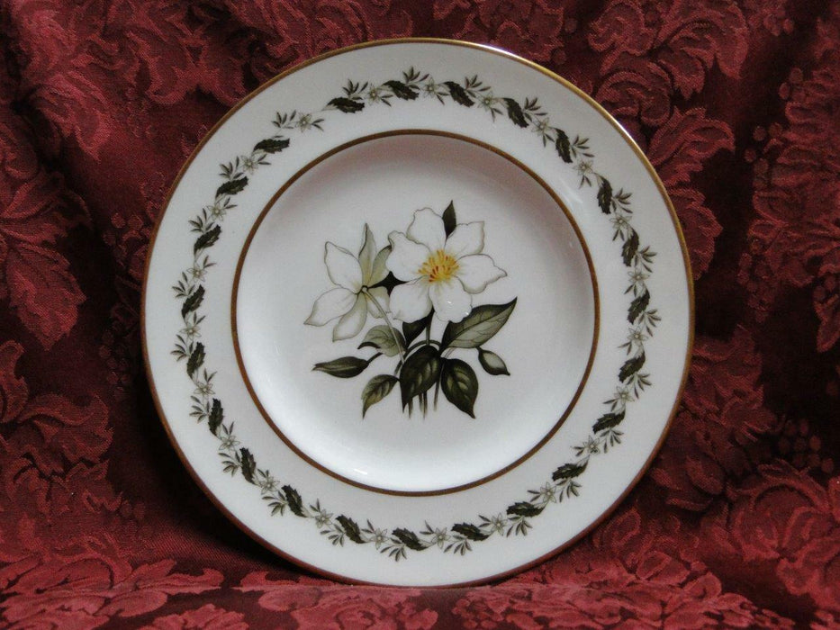 Royal Worcester Bernina, White & Yellow Flowers: Salad Plate (s), 8 1/8""