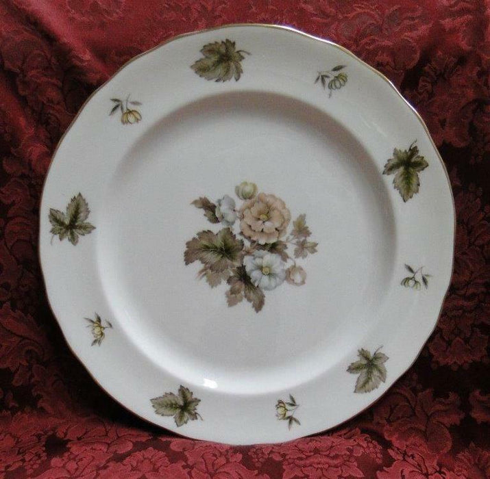 Royal Worcester Dorchester, Brown, Yellow Flowers: Round Serving Platter 12 5/8""