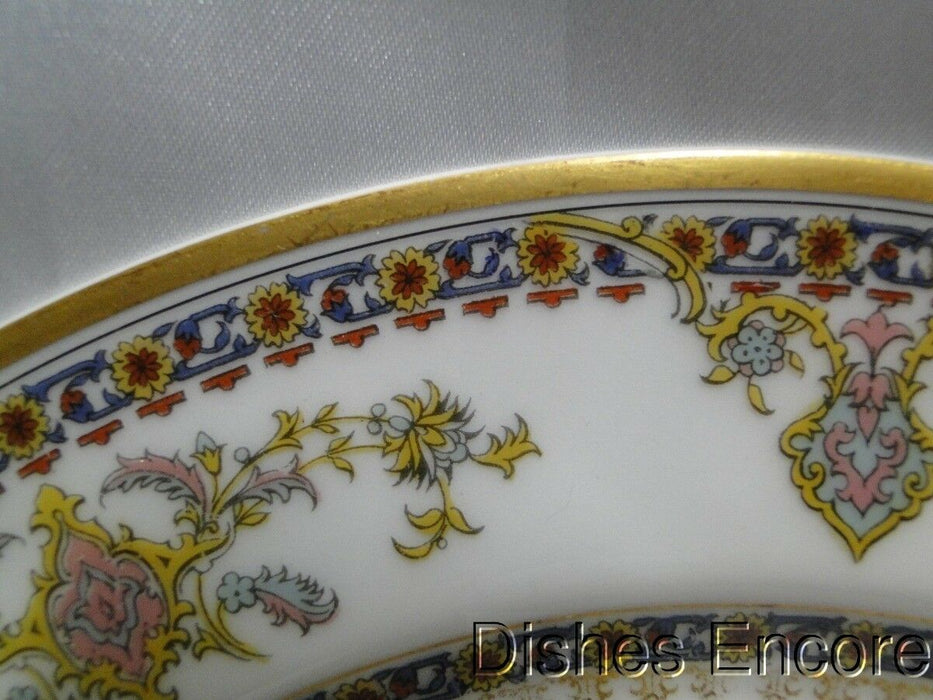 Haviland (Limoges) Oriental, Blue, Rust, Gold w/Gold Trim: Luncheon Plate AS IS 8 5/8""