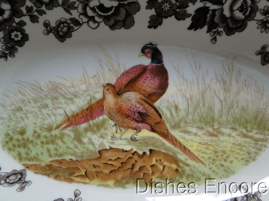 "Spode Woodland Pheasant Game Bird: NEW Bread Tray / Serving Bowl, 15"", Box"