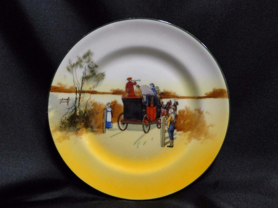 "Royal Doulton Coaching Days, Mail Coach & Bugler: Bread Plate, 6 7/8"", 8b"