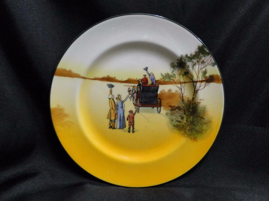 "Royal Doulton Coaching Days, Waving Goodbye to Stagecoach: Salad Plate, 8"", 5a"