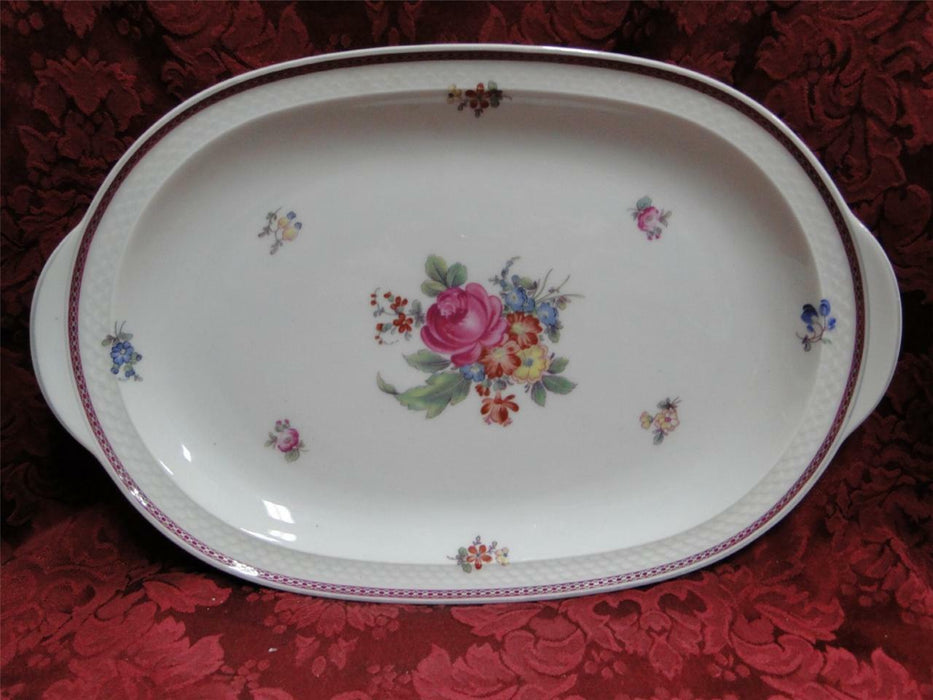 Thomas China 7144, Burgundy & Platinum Band: Serving Platter, 15 1/2""