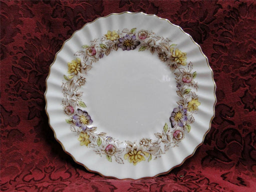 Royal Doulton Mayfair H4897, Multicolored Floral Band: Salad Plate (s), 8 1/4""