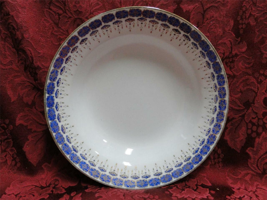 Custom Porcelain Royal Blue on White with Gold: Rim Soup Bowl (s) 8""