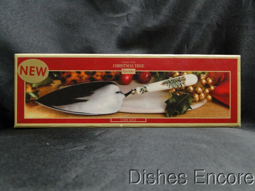 "Spode Christmas Tree: Cake Server / Cake Slice, Serrated Edge, 10 1/2"" Long, Box"