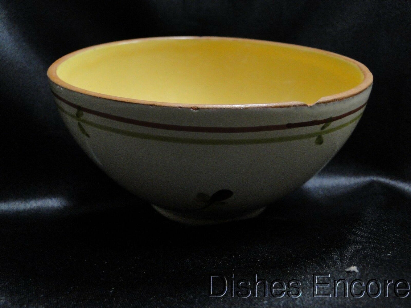 Vietri Fiori Di Bosco (Italy), Cream & Yellow, Flower: Cereal Bowl (s) -- As Is