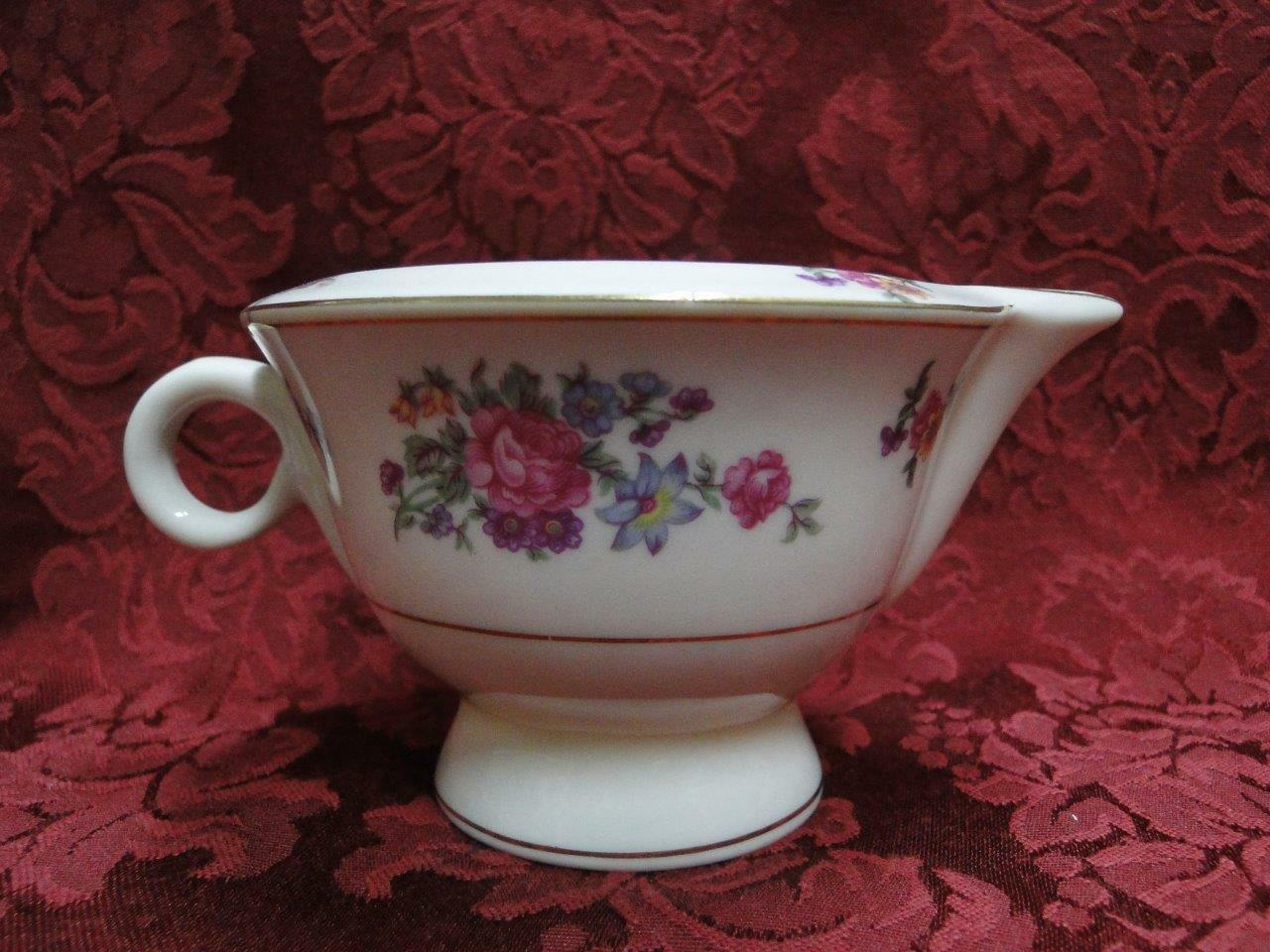 Haviland New York, Arlington, Roses, Flowers, Gold Trim: Cream Pitcher 2 3/4""