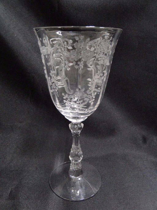 Fostoria Meadow Rose: Water or Wine Goblet  7 5/8""