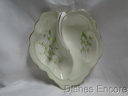 Royal Albert Laurentian Snowdrop, Pale Green, White Flowers: Two Part Relish, 7""