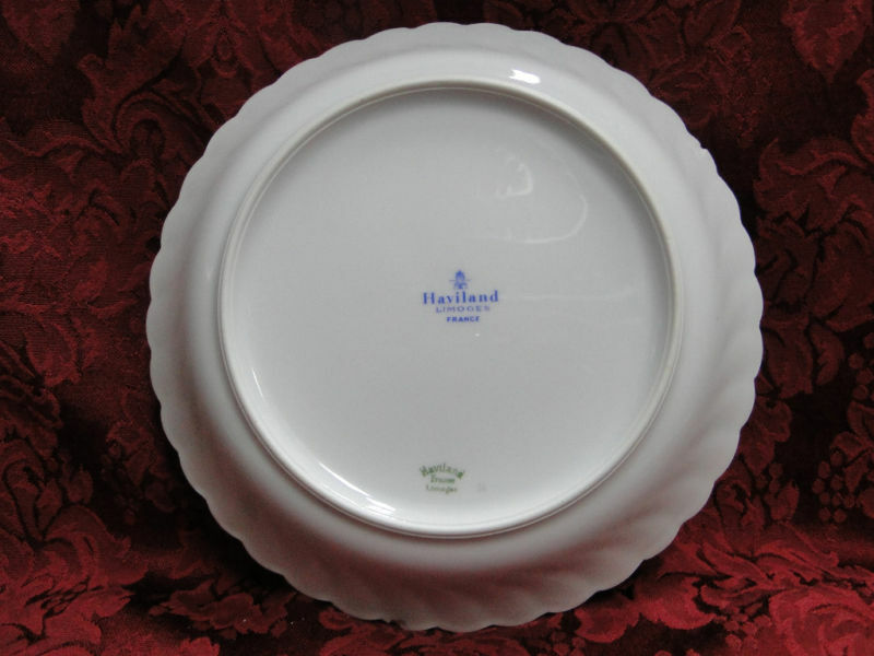 Haviland (Limoges) Lutetia Blue Pink Floral White Oval Serving Platter, 14 X 10""
