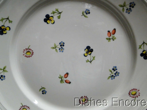 Villeroy & Boch Petite Fleur, Small Flowers, Red Trim: Luncheon Plate (s) 9 5/8""