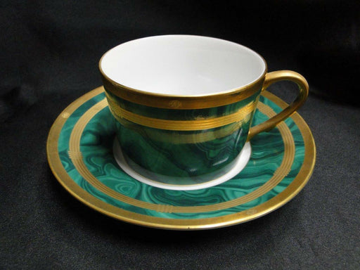 Christian Dior Gaudron Malachite Green with Gold Trim: Cup & Saucer Set (s)