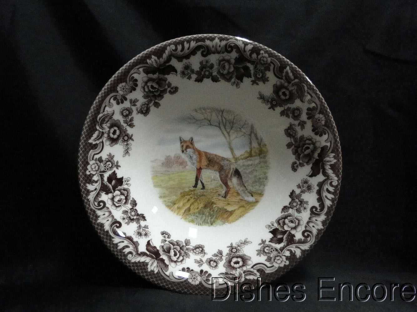 "Spode Woodland Red Fox, England: NEW Ascot Cereal / Soup Bowl, 8"", Box"