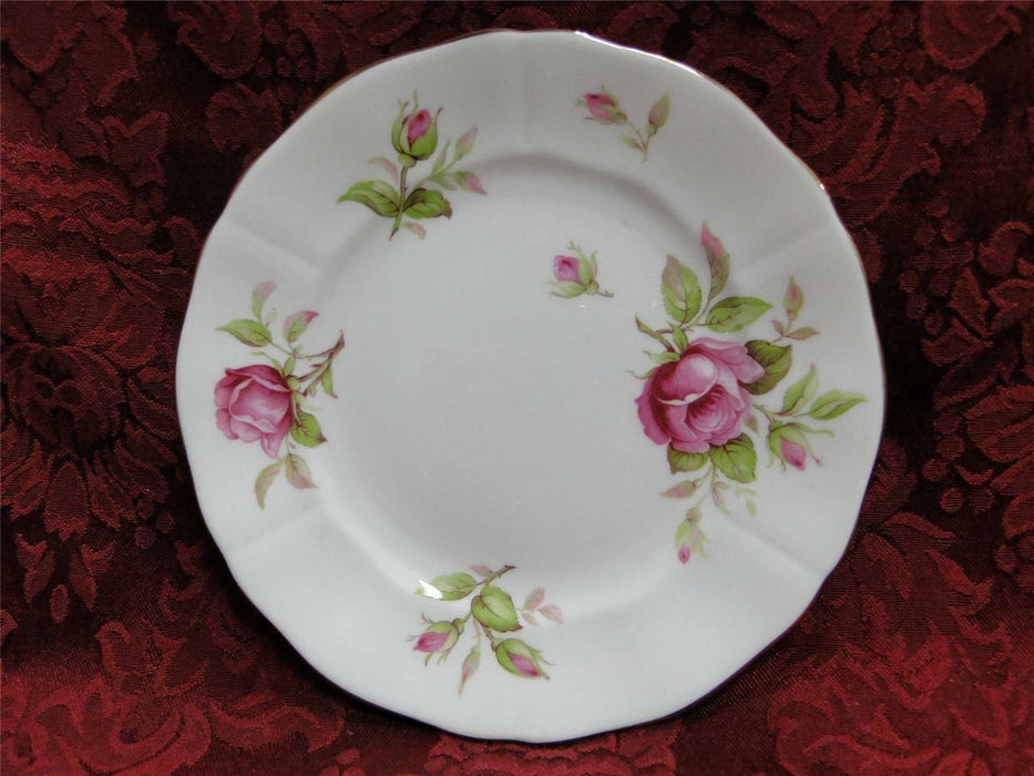 Adderley 7055, Pink Roses with Gold Trim: Bread Plate (s) 6""