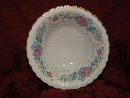 Syracuse Lilac Rose, Multicolored Floral Rim: Round Vegetable Bowl, 8""