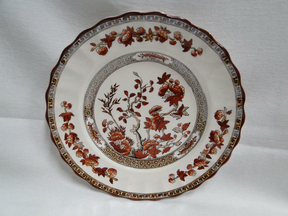 Spode India Tree Orange Rust, Floral, Red Trim: Bread Plate (s), 6 1/2""