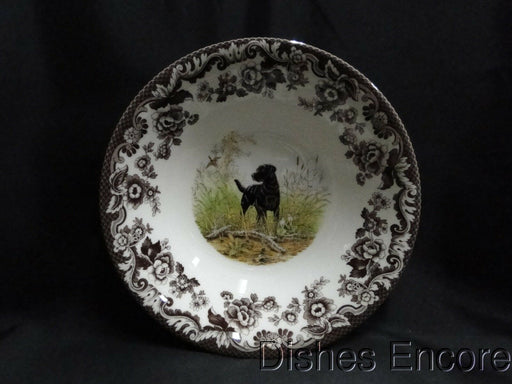 "Spode Woodland Black Labrador Hunting Dog: NEW Ascot Cereal / Soup Bowl 8"", Box"