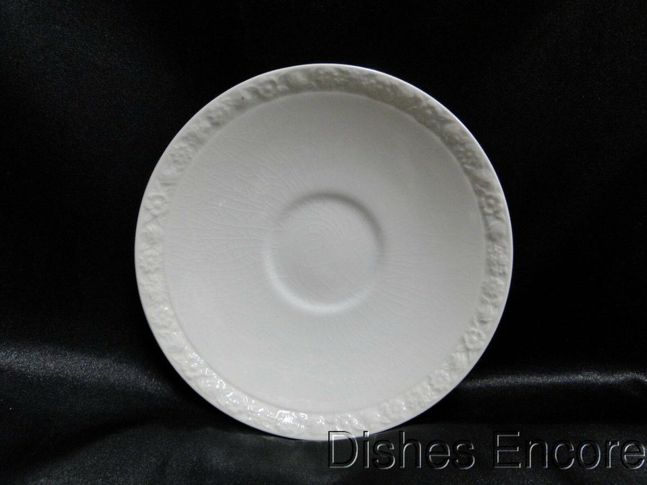 "Wedgwood Hedge Rose, Embossed Flower Band: 5 1/2"" Saucer (s), No Cup, Crazing"
