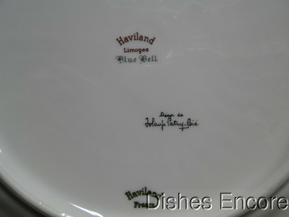 "Haviland (Limoges) Blue Bell Gold Trim: Dinner Plate 10 1/4"" AS IS"