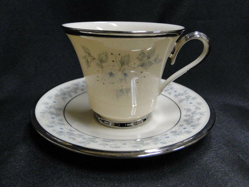 Lenox Windsong, White Flowers, Platinum: Cup and Saucer Set (s)