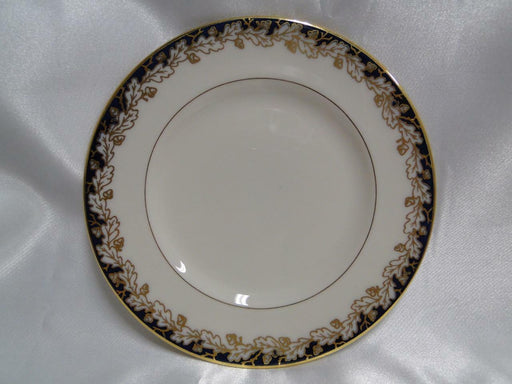 Lenox Oakleaf G 345 B, Cream, Cobalt Blue with Gold: Bread Plate (s) 6 1/4""