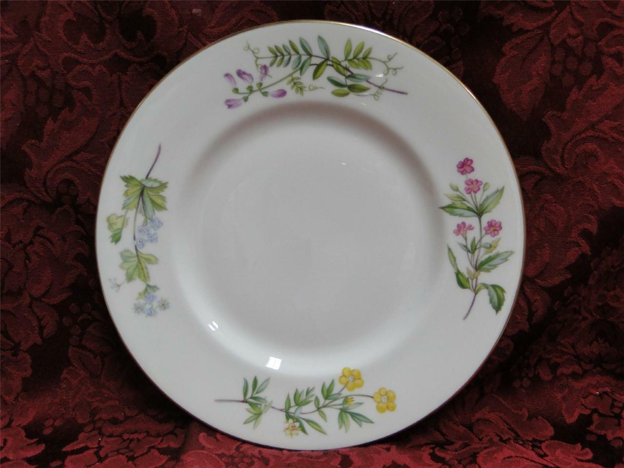 Minton Meadow Smooth, Floral with Gold Trim: Salad Plate (s) 8""
