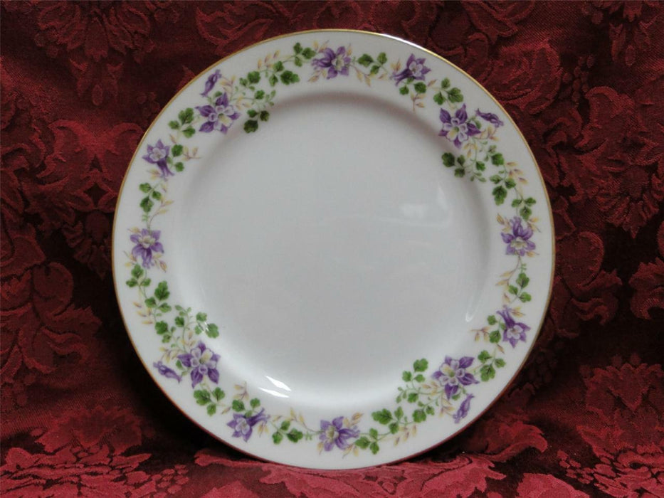 Noritake Therese, 5158, Purple Floral, Gold Trim: Salad Plate (s), 7.5""