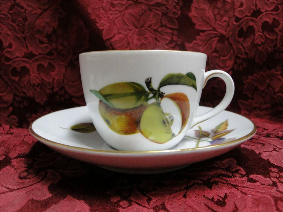 "Royal Worcester Evesham Gold, Fruit: Cup & Saucer Set (s) 2 1/2"", No Gold Stripe"