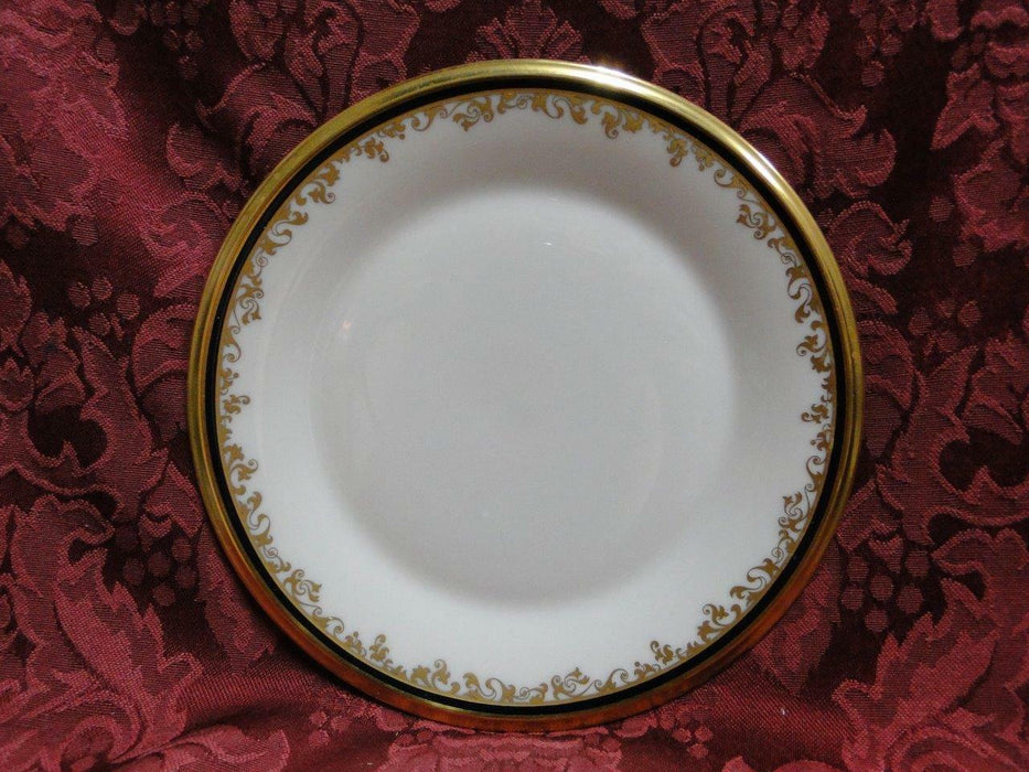Lenox Eclipse, Ivory, Black Band, Gold Scrolls and Trim: Bread Plate 6 1/2""