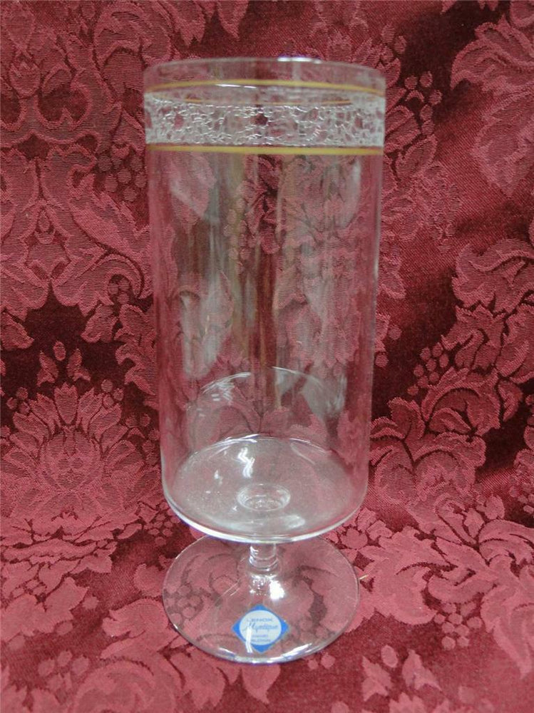Lenox Crystal Mystique, Etched w/Gold Bands: Iced Tea (s) 6 1/4""