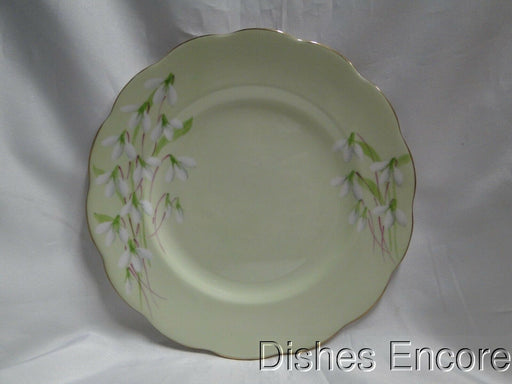 Royal Albert Laurentian Snowdrop, Pale Green, White Flowers: Salad Plate 7 7/8""