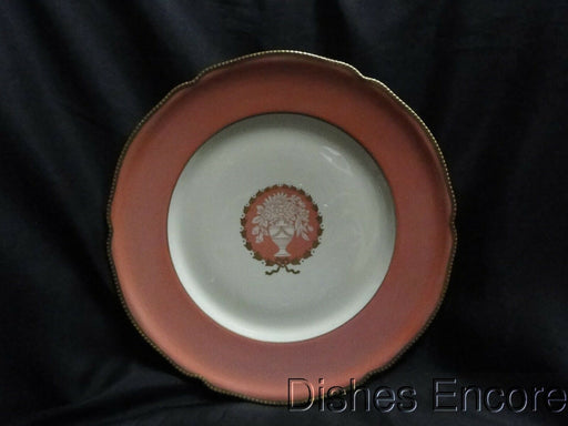 Rosenthal R768, Peach/Rose Band & Center, Floral Urn: Dinner Plate (s), 10 3/4""