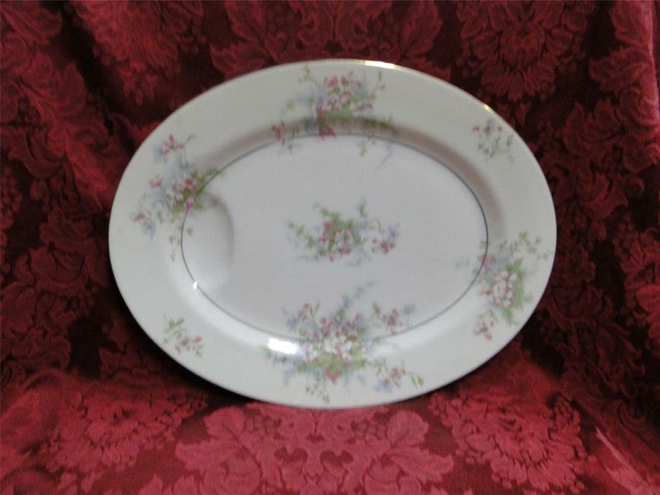 "Haviland (New York) Apple Blossom: Oval Platter 11 1/2"", AS IS"