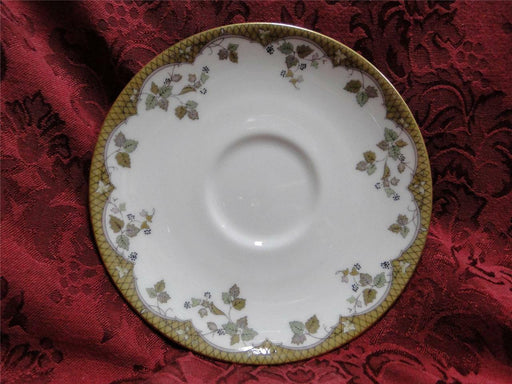 "Royal Doulton Lynnewood, Leaves, Brown Edge: Saucer, 6 1/8"", Cup Not Included"