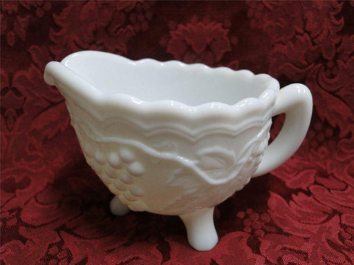Imperial Glass Vintage Grape Milk Glass: Creamer (3 Toed)