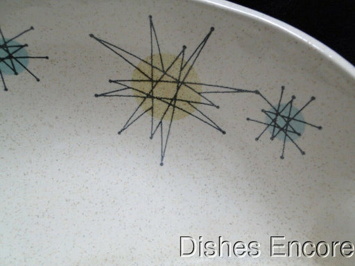 Franciscan Starburst, Aqua, Green, Yellow Stars: Divided Serving Bowl 8 1/4""