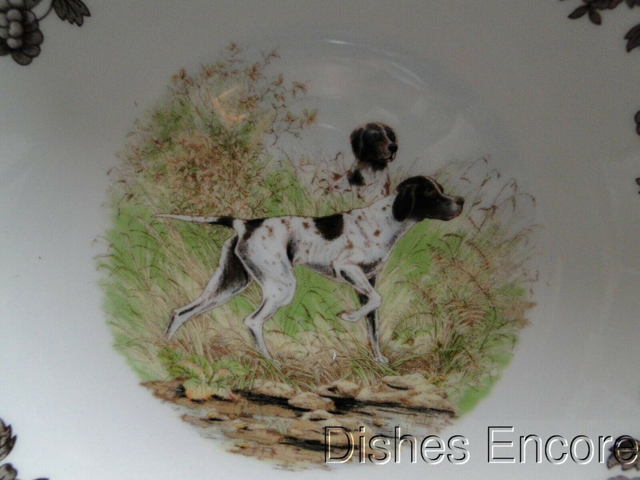 "Spode Woodland Flat Coat Pointer: NEW Ascot Cereal / Soup Bowl, 8"", Box"