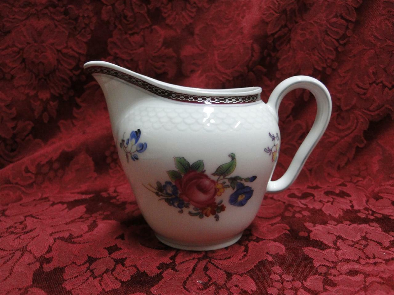 Thomas China 7144, Burgundy & Platinum Band: Creamer / Cream Pitcher