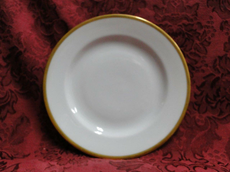 Tirschenreuth Colonial, White w/ Smooth Gold Band: Salad Plate (s), 7""