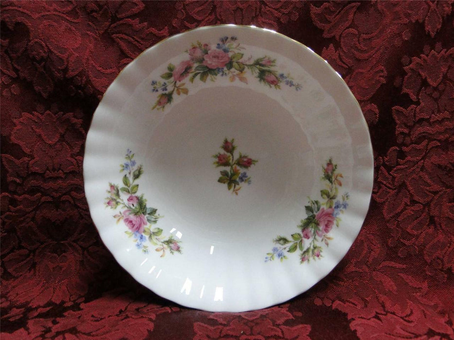 Royal Albert Moss Rose, Pink, Blue, Flowers: Cereal Bowl (s), 6 1/4""