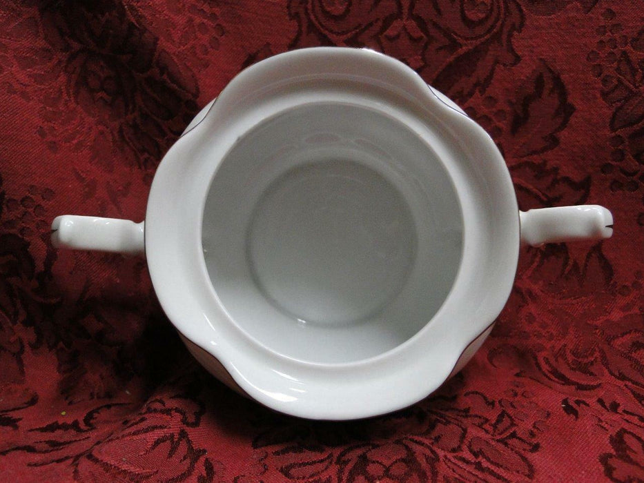 "Wawel Anastasia, Floral Sprays, Embossed Scrolls: Sugar Bowl & Lid, 4.75"" Tall"