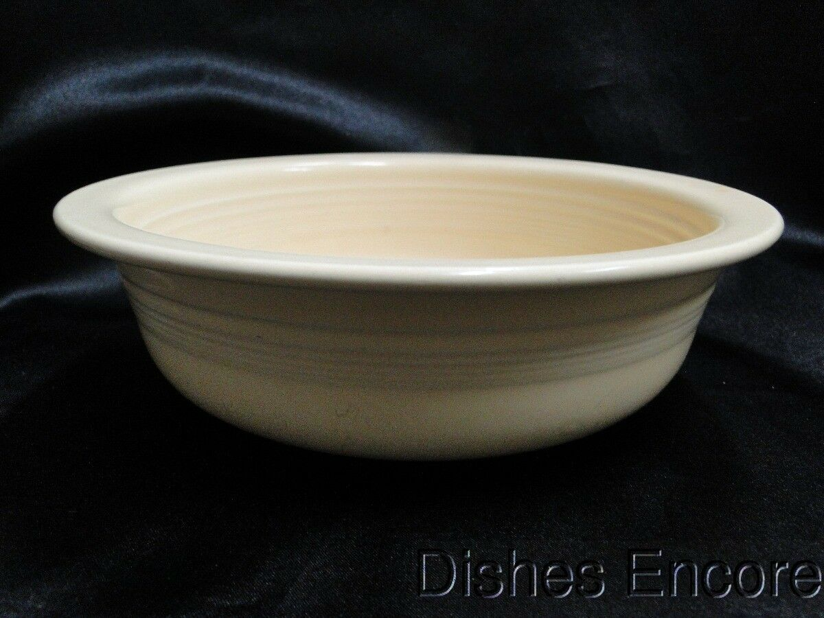 "Homer Laughlin Fiesta (Old): Old Ivory Bowl / Nappy 8 1/2"", Stains"