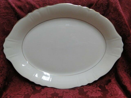 Syracuse Brantley, Wide Gold Trim: Serving Platter, 14""