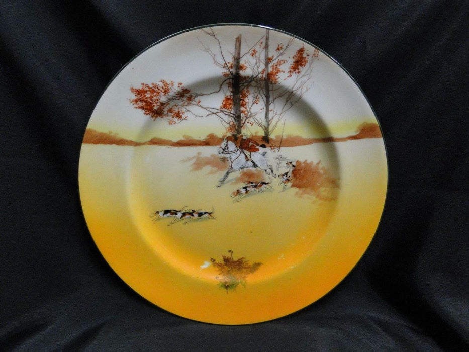 "Royal Doulton Hunting, Horse, Rider, Dogs: Dinner Plate, 10 1/4"" Scene 2a, As Is"