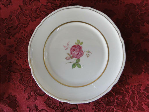 Castleton Dolly Madison, rose w/ gold trim: Salad Plate (s) 7 7/8""